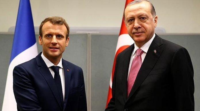 Recep Tayyip Erdoğan Emmanuel Macron