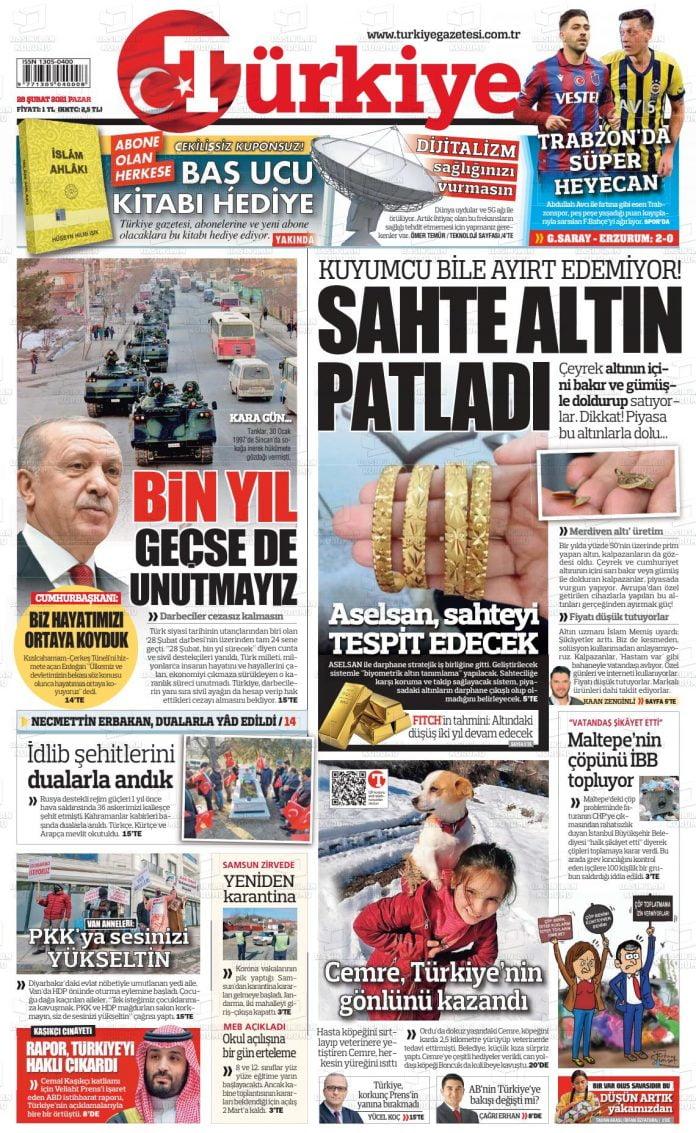 Türkiye Gazete Manşeti