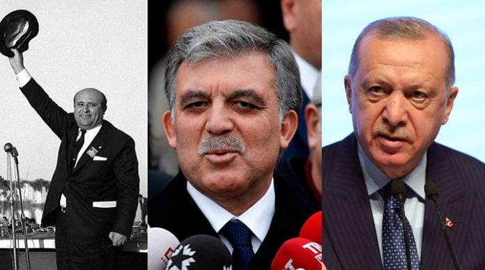 Süleyman Demirel Abdullah Gül Tayyip Erdoğan