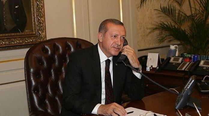 Erdoğan telefon